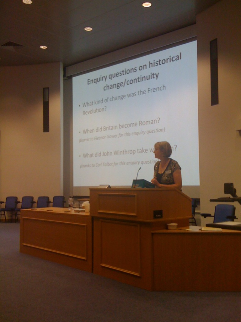 Christine Counsell at the SHP conference.