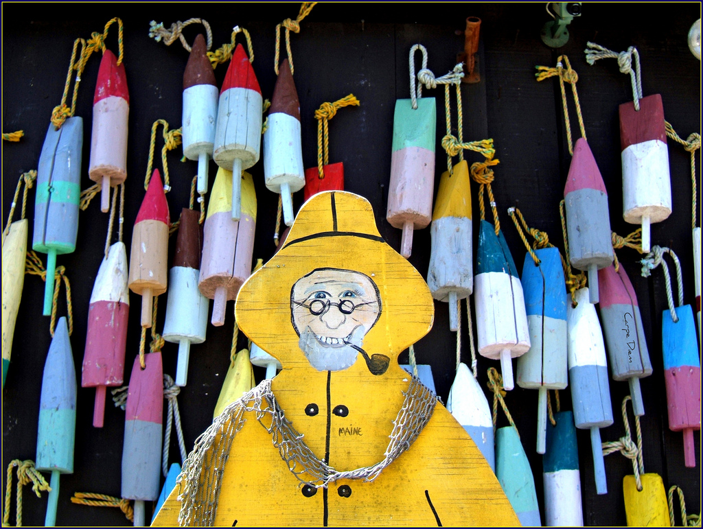 Raincoat and buoys